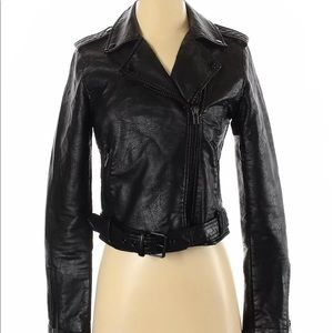 Wild fable faux leather jacket small